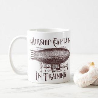 訓練、Steampunkの飛行船の大尉 コーヒーマグカップ