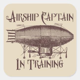 訓練、Steampunkの飛行船の大尉 スクエアシール