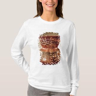 記されるエナメルを塗られた装飾が付いているモスクランプ Tシャツ