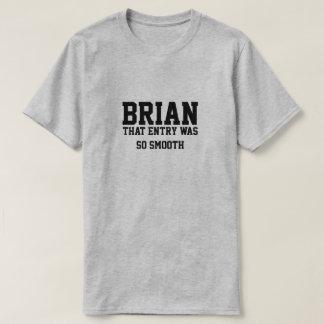 記入項目がとても滑らかだったことブライアン Tシャツ