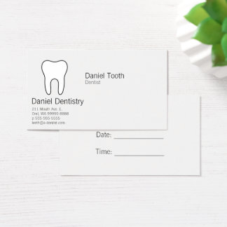 記号による歯 名刺