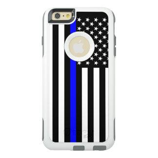 記号による米国旗の薄いブルーライン オッターボックスiPhone 6/6S PLUSケース