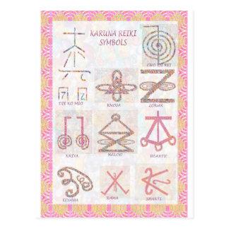 記号による芸術: 霊気は練習用具を習得します ポストカード
