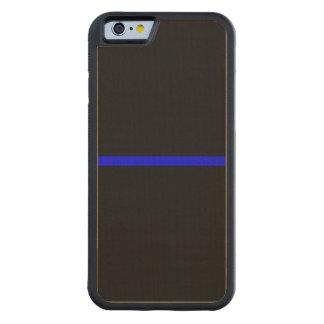 記号による薄いブルーライン横の黒 CarvedメープルiPhone 6バンパーケース