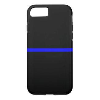 記号による薄いブルーライン横の黒 iPhone 8/7ケース