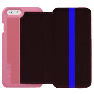 記号による薄いブルーライン縦のスタイル INCIPIO WATSON™ iPhone 5 財布型ケース