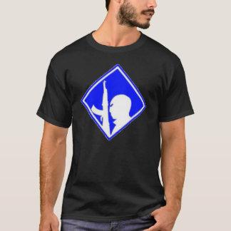 記号のエアブラシ青い対テロ戦争 Tシャツ
