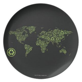 記号のリサイクルで構成される惑星の地球 プレート