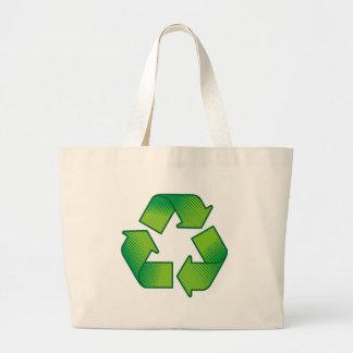 記号のリサイクル ラージトートバッグ