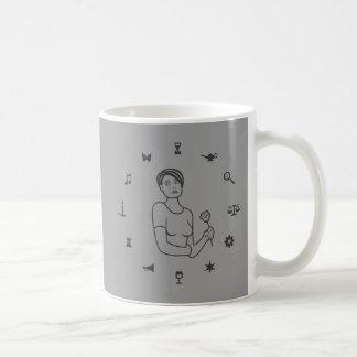 記号の女の子の車輪 コーヒーマグカップ