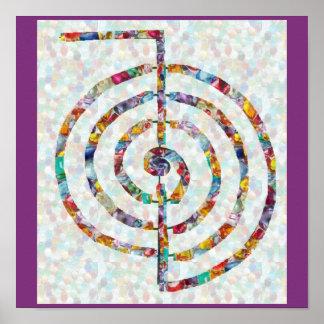 記号の芸術2014年-霊気のマスターの練習 ポスター