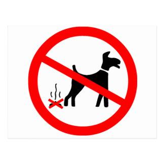 記号を汚している犬無し ポストカード