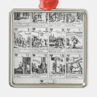 記念するアンチカトリック教の遊ぶカード メタルオーナメント