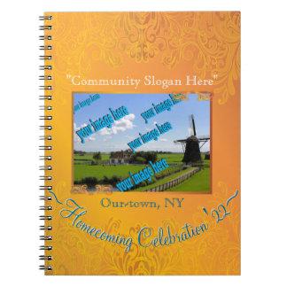 記念する収穫の金ゴールドの帰郷のフェスティバル ノートブック