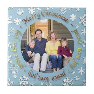 記念する家族写真のクリスマスのセラミックタイル タイル