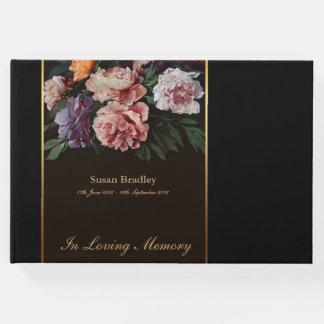 記念の葬儀の来客名簿2を絵を描いているシャクヤク ゲストブック