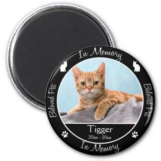 記念の-猫の損失-カスタムな写真か名前 マグネット
