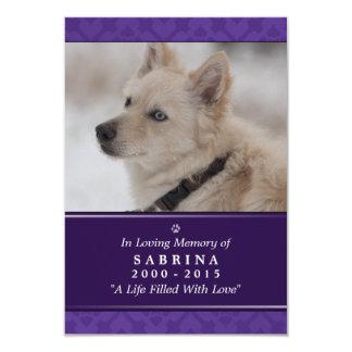 """記念カード3.5""""のx 5"""" -紫色の写真のモダン後をつけて下さい カード"""