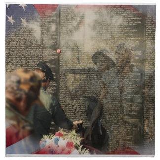 記念ベトナムの退役軍人 ナプキンクロス