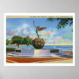 記念公園、ジャクソンビル、フロリダ ポスター