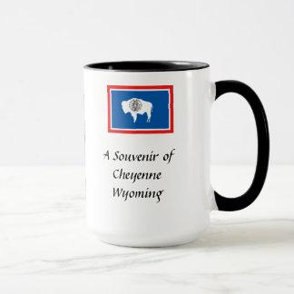 記念品のマグ-シャイエンヌ、ワイオミング マグカップ