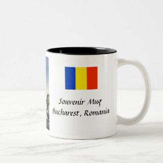 記念品のマグ-ブカレスト、ルーマニア ツートーンマグカップ