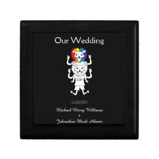記念品を結婚するゲイプライドの白黒おもしろい ギフトボックス