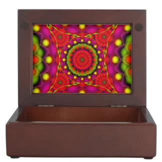 記念品箱の曼荼羅のサイケデリックな視野 ジュエリーボックス