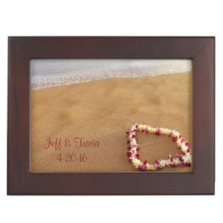 記念品箱を結婚するビーチ及びレイ ジュエリーボックス