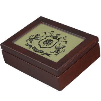 記念品箱Heraldic紋章付き外衣 ジュエリーボックス