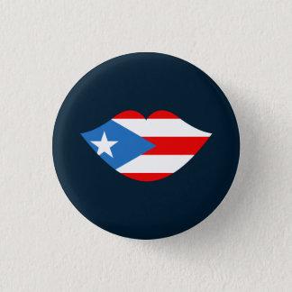 記念品: 唇: プエルトリコの旗: Pin 3.2cm 丸型バッジ