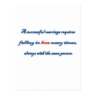 記念日の引用文-巧妙な結婚のrequir… ポストカード