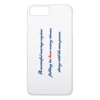 記念日の引用文-巧妙な結婚のrequir… iPhone 8 plus/7 plusケース