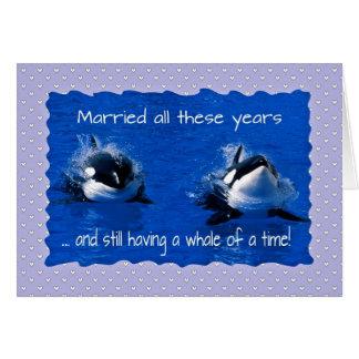 記念日の挨拶、時間のクジラを持っています カード