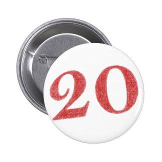 記念日20年の 5.7CM 丸型バッジ
