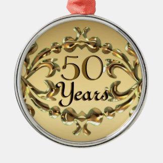 記念日50年の、第50誕生日の金ゴールドのオーナメント メタルオーナメント