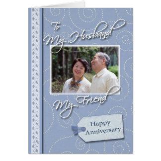 記念日、夫-写真カードテンプレート カード