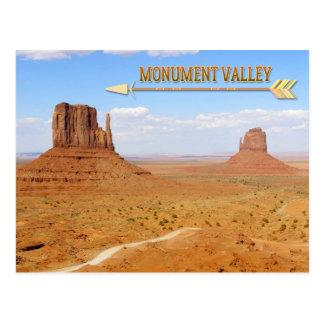 記念碑の谷のナバホー人の種族公園 ポストカード