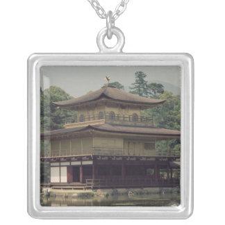 記憶に専用されているKinkakuの寺院 シルバープレートネックレス