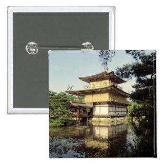 記憶に専用されているKinkakuの寺院 5.1cm 正方形バッジ