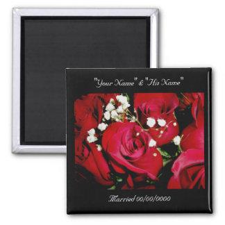 記憶の磁石を結婚しているバラ マグネット