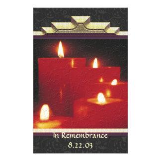 記憶の蝋燭及びつる植物 便箋