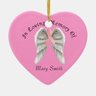 記憶クリスマスのオーナメントの乳癌 セラミックオーナメント