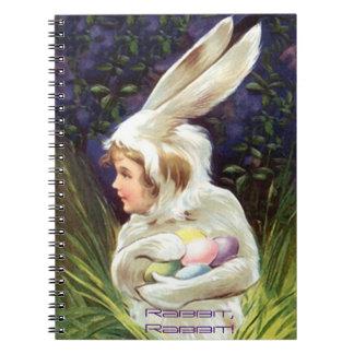 記憶ジャーナル本のヴィンテージの甘いウサギ、ウサギ! ノートブック