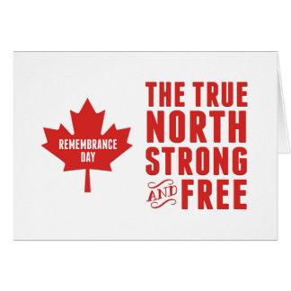 記憶日11月11日カナダ、強くおよび自由 カード