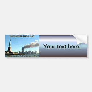記憶日9月911日11日2001年 バンパーステッカー