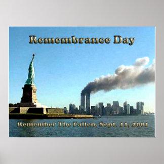 記憶日9月911日11日2001年 ポスター