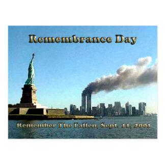 記憶日9月911日11日2001年 ポストカード