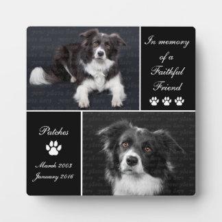 記憶犬の写真の記念物 フォトプラーク