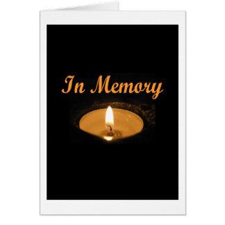 記憶蝋燭の白熱 グリーティングカード